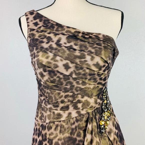 Eliza J Dresses & Skirts - Eliza J Animal Print One Shoulder Sheath Dress